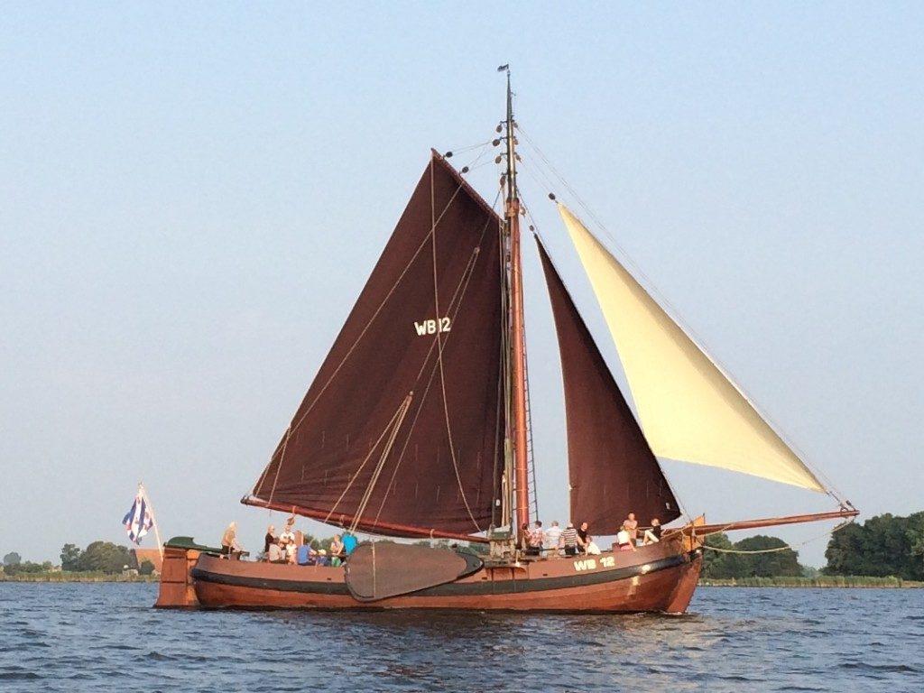 Avondvaart met de Palingaak op het Heegermeer, de Hegemer Mar.