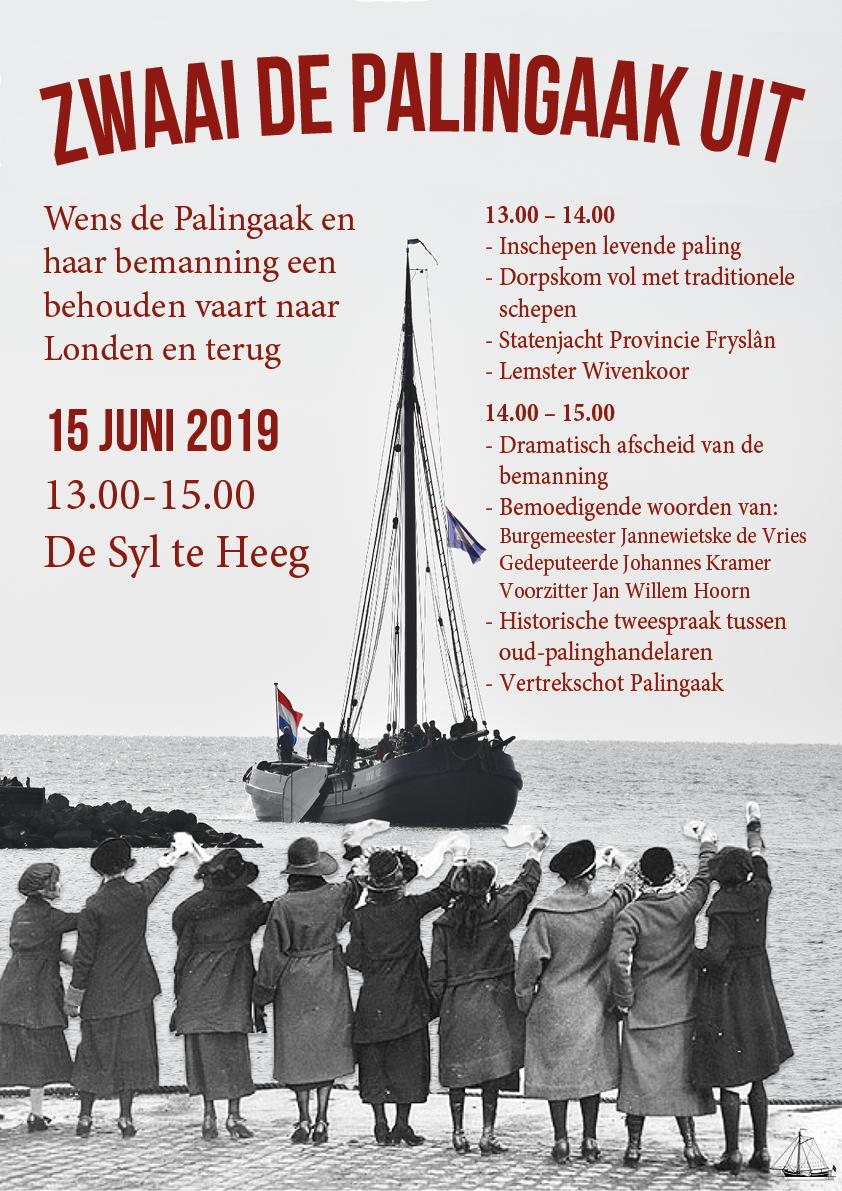 Zwaai de Palingaak Korneliske Ykes II uit bij het vertrek naar Londen